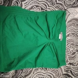 Buddy Central bright green tube top